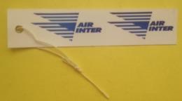 AIR INTER - ETIQUETTE BAGAGE - VOYAGE - Étiquettes à Bagages
