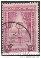 Ruanda-Urundi, 1931/38 - 5c Porter - Nr.37 Usato° - 1924-44: Gebraucht