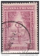 Ruanda-Urundi, 1931/38 - 5c Porter - Nr.37 Usato° - Ruanda-Urundi
