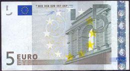 Euronotes 5 Euro 2002 VF < X >< P007 > Germany Duisenberg Rare - EURO