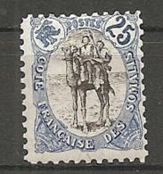 C  SOMALIS - Yv. N° 60   *  25c  Méhariste  Cote  18 Euro  BE R 2 Scans - Côte Française Des Somalis (1894-1967)