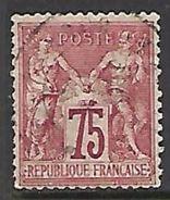 France 1876  Sc#75   75c   Used   2016 Scott Value $13.50 - 1876-1878 Sage (Type I)