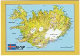 Ísland - Iceland - MAP/CARTE/KAART - IJsland