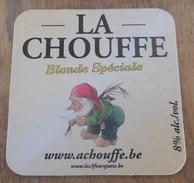 Sous-bock  Coasters Beer / LA CHOUFFE Bière Blonde D'Ardenne - Mc CHOUFFE Brune Spéciale  - Never Used - Jamais Utilisé - Sous-bocks