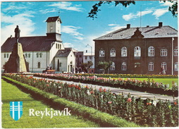 Ísland - Iceland - Reykjavík ; Austurvöllur, The Cathedral And Parliament House - IJsland