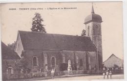 Tichey - L'église Et Le Monument - Autres Communes