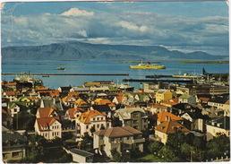 Ísland - Iceland - Reykjavík: View Towards The Harbour And Mt. Esja - (Passengership) - 1968 - IJsland