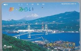 JP.- Japan, Telefoonkaart. Telecarte Japon. NTT. TELEFHONE CARD 50. BRUG BOOT. - Landschappen