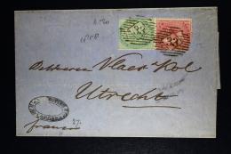Great Britain : Cover 1858 London -> Utrecht Holland SG 72 +4 P (damage) - Briefe U. Dokumente
