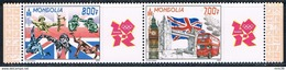 Bloc Sheet  JO Londres Jeux Olympiques London  Olympic Games   Neuf  MNH ** -  Mongolie  Mongolia 2012 - Mongolie