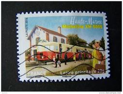 OBLITERE ANNEE 2014 N°1002 MICHELINE XM 5005 HAUTE MARNE DU CARNET LA GRANDE EPOPEE DU VOYAGE EN TRAIN - France