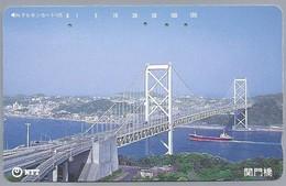 JP.- Japan, Telefoonkaart. Telecarte Japon. NTT. BRUG. - Landschappen