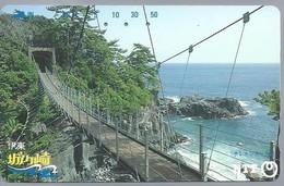 JP.- Japan, Telefoonkaart. Telecarte Japon. NTT. HANGBRUG - Landschappen