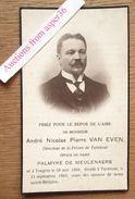 André Nicolas Pierre Van Even Echtgenoot Palmyre De Meulenaere, Tongeren 1869, Turnhout 1916 - Images Religieuses