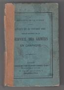 MINISTERE DE LA GUERRE - DECRET 1883 - REGLEMENT SUR LE SERVICE DES ARMEES EN CAMPAGNE - French