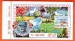 Loterie Nationale 1953 - SPECIALE  Paques - Général LECLERC De 500 Fr. - Billets De Loterie