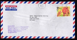 Singapore: Airmail Cover To Netherlands, 1992, 1 Stamp, Olympics, Basketball, Basket Ball, Sports (traces Of Use) - Singapur (1959-...)