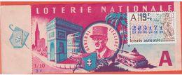 Loterie Nationale 1970 - 19 ème T. 1/10 - Général Leclerc - Timbre La Fontaine Les 2 Coqs - Billets De Loterie