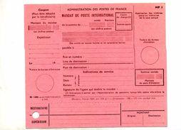 Mandat Poste International - Documents Of Postal Services