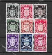 België 1945 Y&T Nr 716/724 (**) - Neufs