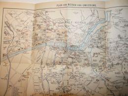 Meran Merano Umgebung Italy Tirol Map Karte 1914 - Carte Topografiche