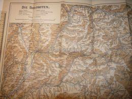 Dolomiti Dolomiten Italy  Austria Tirol Map Karte 1914 - Carte Topografiche