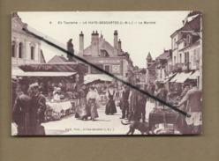 CPA -  En Touraine - La Haye Descartes - (I.-&-L.) - Le Marché - Sonstige Gemeinden