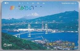 JP.- Japan, Telefoonkaart. Telecarte Japon. NTT. TELEPHONE CARD 50. BRUG - Landschappen