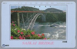 JP.- Japan, Telefoonkaart. Telecarte Japon. NTT. - SAIKAI BRIDGE - - Landschappen