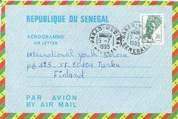 Senegal 1995 Dakar Medina Woman 70f Airmail Letter Sheet Aerogramme PAP. Type 1 Sehler 2007 - Senegal (1960-...)
