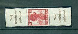 Deutsches Reich / Zusammendrucke. Deutsche Nothilfe, Trachten Nr. S 240, Falz * - Zusammendrucke