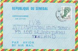 Senegal 1986 Bignona Woman 70f Overprint Manually 100f Airmail Letter Sheet Aerogramme PAP. Type 4 Sehler - Senegal (1960-...)