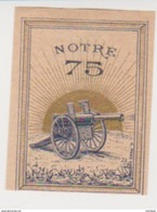 France WWI Notre 75 Field Canon Stamps Vignette Poster Stamp - Military Heritage
