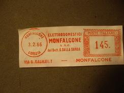 ITALIA   MONFALCONE  GORIZIA  3/02/66  Avec Puplicitée  ELETTRODOMESTICI  Del Dott G.Dalla  Barba - Marcophilie - EMA (Empreintes Machines)