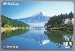 JP.- Japan, Telefoonkaart. Telecarte Japon. LAGARE CARD 3000. - Vulkanen