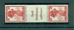 Deutsches Reich / Zusammendrucke. Deutsche Nothilfe, Trachten Nr. S 242, Falz * - Se-Tenant