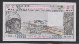 Côte D'Ivoire - 5000 Francs - 1989 -  Pick N°108Ag - Neuf - Côte D'Ivoire
