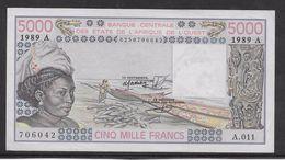 Côte D'Ivoire - 5000 Francs - 1989 -  Pick N°108Ag - SPL - Côte D'Ivoire