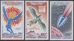 Gabon ScC92-4 Icarus, Da Vinci's Flying Man (1519), Jules Verne's Space Shell (1865), Espace - Space