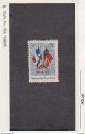 France WWI 4 Flags 1914-1915 Franchise Militaire Stamps Vignette Poster Stamp - Commemorative Labels