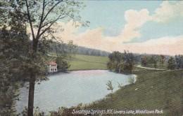 New York Saratoga Springs Lovers Lake In Woodlawn Park - Saratoga Springs