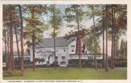 New York Saratoga Springs Inniscara Chauncey Olcott Cottage Curteich - Saratoga Springs