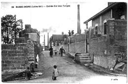 Basse Indre Loire Atlantique Entrée Forges Animée Circulé 1929 état Superbe - Basse-Indre