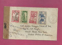 Lettre De Guyane De 1943 Pour Les EUAN - YT N° 148, 150, 116, PA 12 - Exposition Internationale De Paris Et New York - Covers & Documents