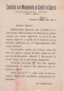 ** COMITATO PRO MONUMENTO AI CADUTI IN GUERRA.-(BARBARICINA-PI).1928.** - Documenti