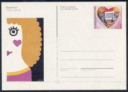 CROATIA  2000 Postal Stationery Card Valentines Day. Unused.  Michel P15 - Croatia