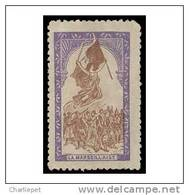 France WWI 1915 La Marseillaise Vignette  Military Heritage Poster Stamp - Philatelic Fairs