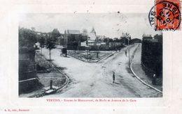 Cpa (02)--vervins.--routes De Montcornet De Marle Et Avenue De La Gare - Féroé (Iles)