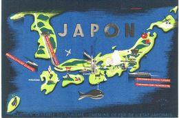 Asie - Japon - Carte éditée Par Direction Générale Du Tourisme Chemins De Fer Japonais - Taiwan