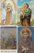 11135-N°. 4 CARDS SANTINI - S.GIUSEPPE-S.ANTONIO-S.FRANCESCO D'ASSISI - Religion & Esotericism